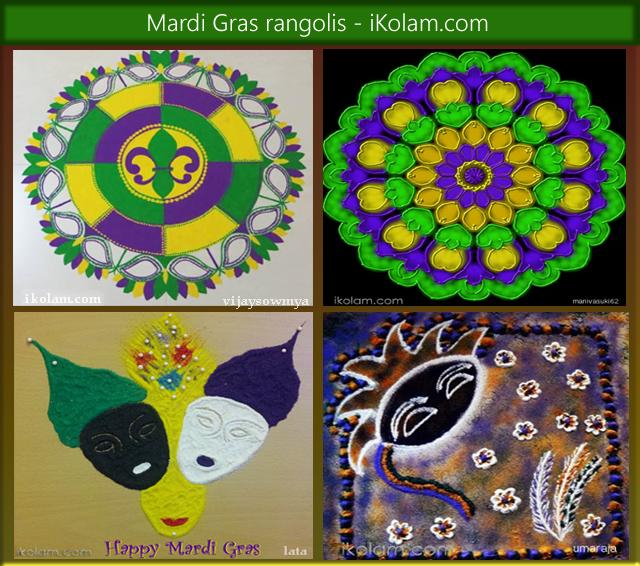 Mardi Gras Rangolis - iKolam.com - mardi-gras-rangolis.png