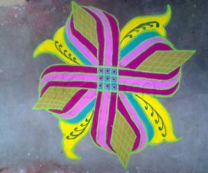 colourful padikolam