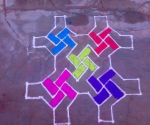 Rangoli: Margazhi(12)-Dotted