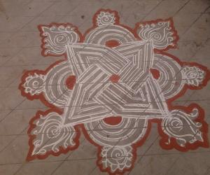 Rangoli: Rainy day kolam