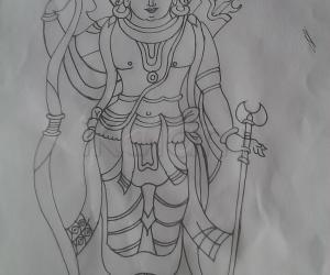 Rangoli: Sri Ram