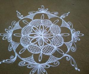 Rangoli:  my wedding day kolam