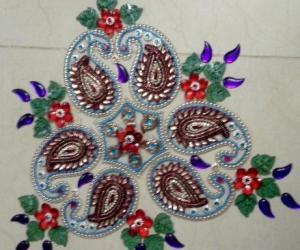 Rangoli: Moveable rangoli'