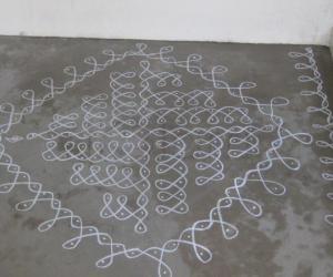 Rangoli: Chalk Kolam in Singapore !!!