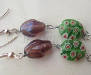 Rangoli: Second attempt on making beaded earings !!!!