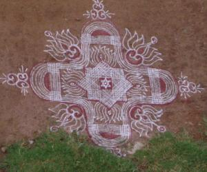 Rangoli: special kolams for friday!