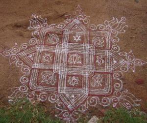 Rangoli: varalakshmi pooja special