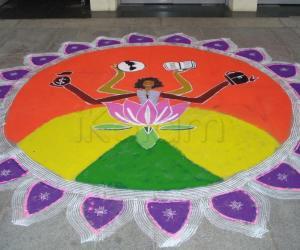 Rangoli: thematic rangoli