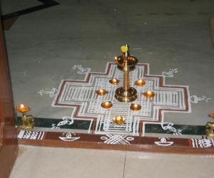 Rangoli: karthigai maa kolam