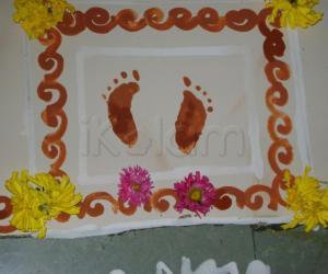 Rangoli: Krishna Padam