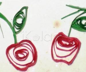 Rangoli: Apple gift tag