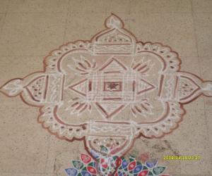 Rangoli: another aadi velli kolam