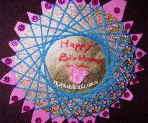 Rangoli: Greetingcard by thread