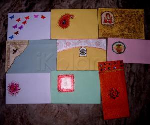 Rangoli: hand made envelops