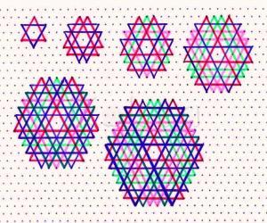 "Rangoli: Hexagonal ""yantras"""