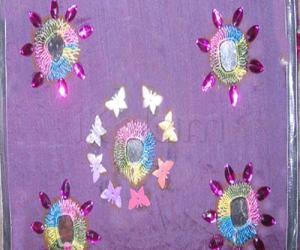 Rangoli: mirror work embroidary