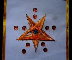 Rangoli: stitching card