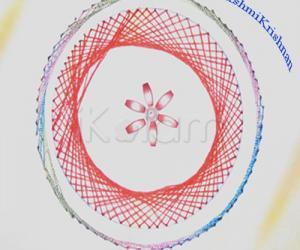 Rangoli: stitching card