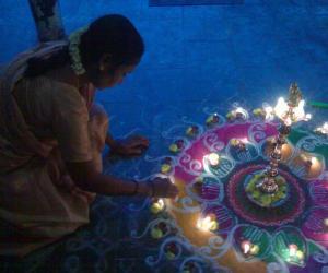 Rangoli: karthikai depam special