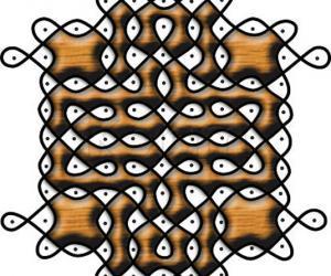 Color schemes: woodgrain rangoli