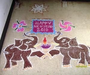 Happy New Year kolam