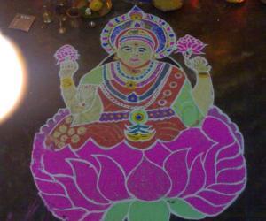 Rangoli: navarathri rangoli