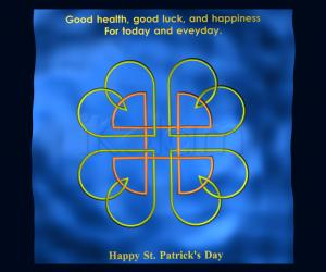Rangoli: Celtic Rangoli for St.Patrick's day