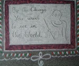 Rangoli: Gandhi Jeyanthi