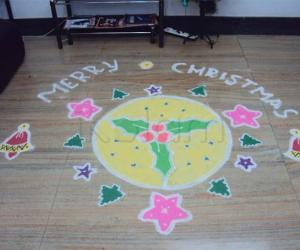 Rangoli: Chirstmas rangoli