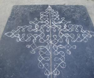 Rangoli: kolam drawn on 25th dec 09