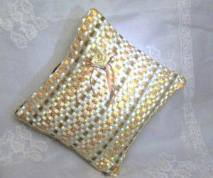"Rangoli: ""Offray"" Satin Ribbon Cushion Cover"