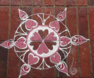Rangoli: hearty rangoli