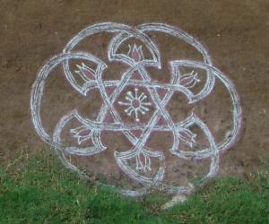 Rangoli: star rangoli