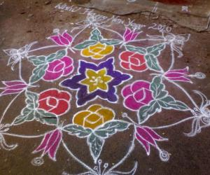 Rangoli: Margazhi kolam on 1st day of 2010
