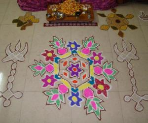 Rangoli: Golu with kolam