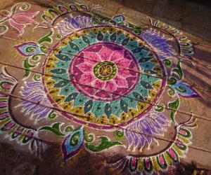 Rangoli: Marghali dew drops rangoli contest 2010