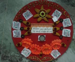 Rangoli: Sumangala arthi Plate