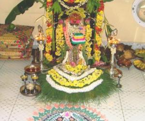 Rangoli: Gowri-Ganesha pooja