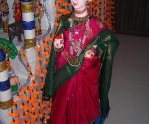 Rangoli: doll dressed up for golu
