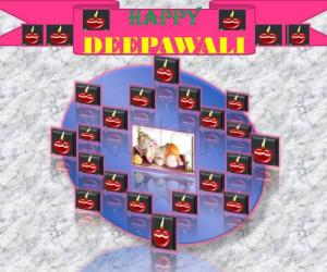 "GANESHA DEEPAVALI  ""  HAPPY DEEPAVALI FROM GANESHA"""
