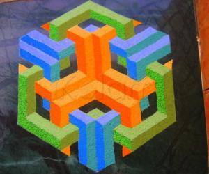 Rangoli: Preeti.N's Geometric kolam in kolapodi.