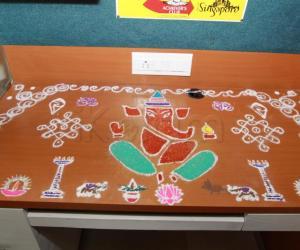 Rangoli: Another Ganesha