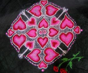 Valentine Day/romantic Rangoli