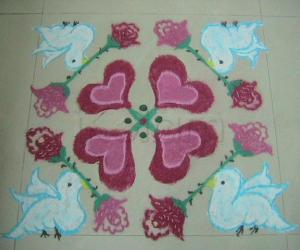 Romantic Rangoli