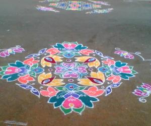 Flowers rangoli (sharu)