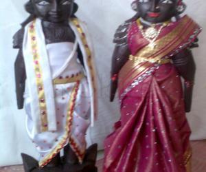 Rangoli: marappachi doll for contest