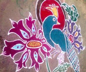 Bird rangoli