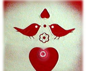 Valentine rangoli - in 2 minutes