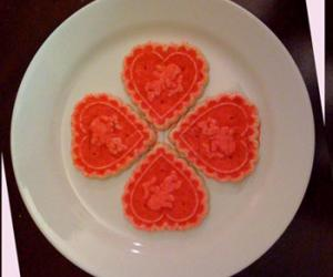 Valentine rangoli using cookies