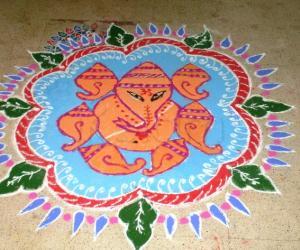 Markazhi Dew Drops Rangoli contest-2010